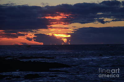 Photograph - Intense Sunset by Mary Haber