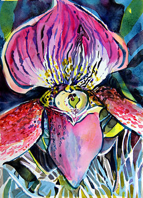 Orchid Drawing - Intensely Orchid by Mindy Newman