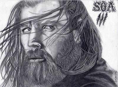 Opie Drawing - Intensity by Aaron Freeman