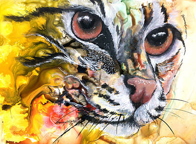 Art Print featuring the painting Intensity by Sherry Shipley