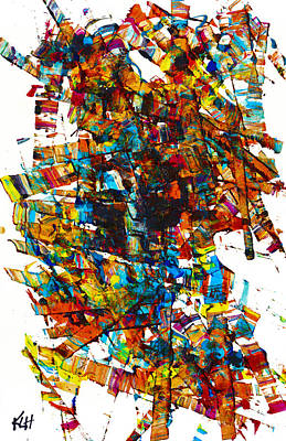 Painting - Intensive Abstract Painting 1166.061312vs21 by Kris Haas