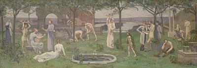 Inter Artes Et Naturam  Art Print by Pierre Puvis de Chavannes
