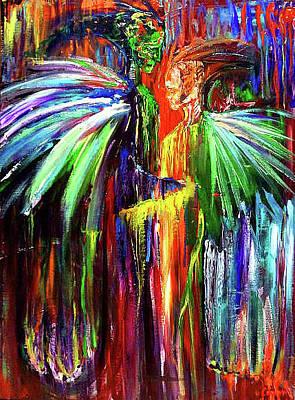Carolyn Anderson Painting - Inter-dimensional Beings by Carolyn Anderson