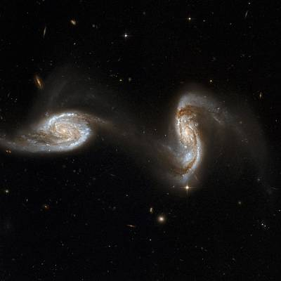 Virgo Photograph - Interacting Galaxies Ngc 5257 And 5258 by Stsciaurahubble Collaborationa. Evans (university Of Virginia, Charlottesville;nrao;stony Brook University)nasa