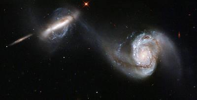 Astrology Photograph - Interacting Galaxy Pair Arp 87 by Artistic Panda