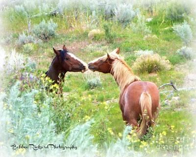 Photograph - Interaction  by Bobbee Rickard