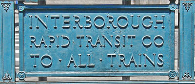 Photograph - Interborough Rapid Transit Co by Jim Poulos