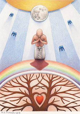 Prayer Drawing - Intercessory Circle by Amy S Turner