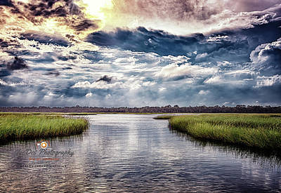 Photograph - Intracoastal Storm by Joedes Photography