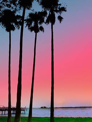Pier Digital Art - Intercoastal Sunset by Bill Cannon