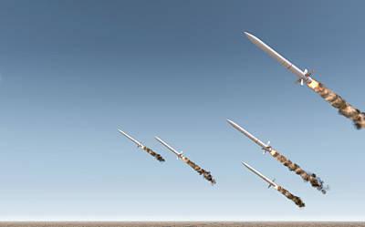 Intercontinental Ballistic Missile Art Print