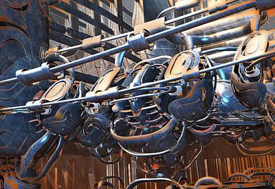 Digital Art - Interdimensional Engine by Hal Tenny
