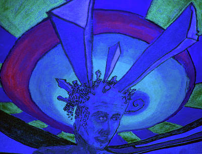 Painting - Interdimentional Coexistancecublue by Raul Morales
