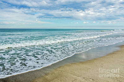 Photograph - Interesting Clouds And Waves by Sue Smith