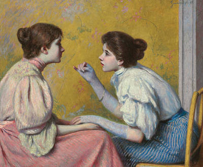 Belle Epoque Painting - Interesting Conversation by Federigo Zandomeneghi