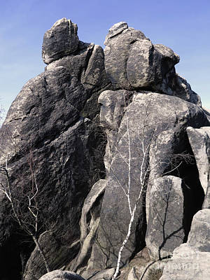 Photograph - Interesting Rock Formation - Rock Tower In The Crows Rocks In Lu by Michal Boubin