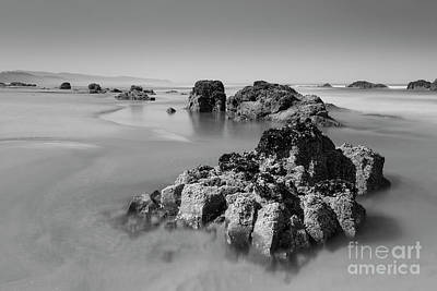 Water Play Photograph - Interesting Rocks In The Water by Masako Metz