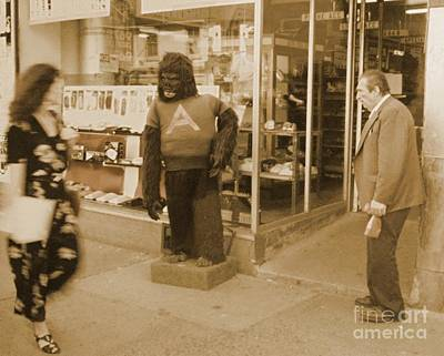 Storefront Mixed Media - Interesting Street Scene by John Malone