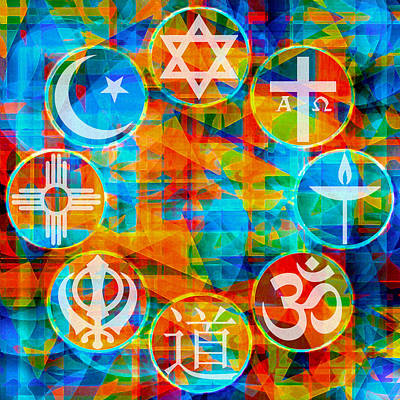 Synagogue Digital Art - Interfaith 1 by Dyana  Jean
