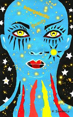 Out Of This World Painting - Intergalactic Beauty by Kathleen Sartoris