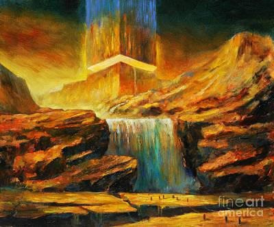 Matrix Painting - Intergalactic  Dimension by Michal Kwarciak