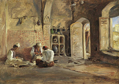Pottery Painting - Interior, Algiers by William Gale