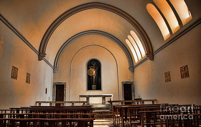 Photograph - Interior Catholic Church Perpignan France  by Chuck Kuhn
