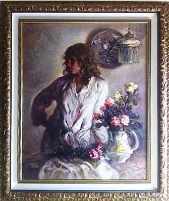 Simbari Painting - Interior Con Flores  by Jose Royo