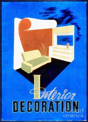 Painting - Interior Decoration Vintage Wpa Poster by Edward Fielding