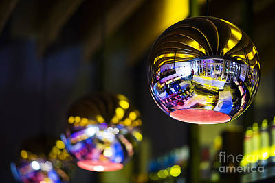 Photograph - Interior Design Detail In Modern Trendy Bar At Night by Jacek Malipan