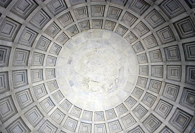 Photograph - Interior Dome Of Jefferson Memorial by Mary Haber