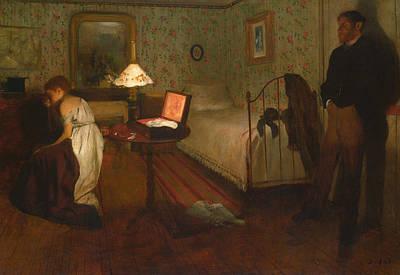 Mirror Painting - Interior by Edgar Degas