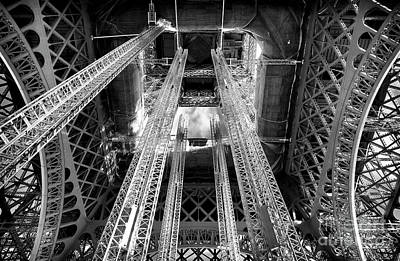 Photograph - Interior Eiffel Tower by John Rizzuto