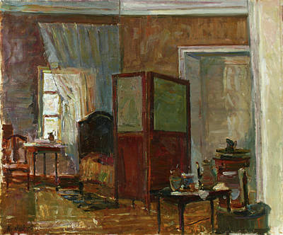 Painting - Interior In Mikhailovskoye by Juliya Zhukova