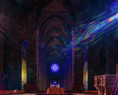 Photograph - Interior Looking Rearwards, Cathedral Of St. John The Divine by Chris Lord