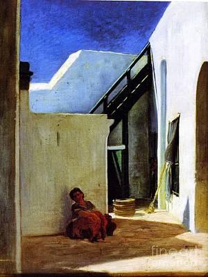 Interior Of A Moroccan Courtyard Art Print