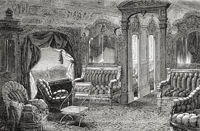 Interior Of A Pullman Palace Railway Art Print by Vintage Design Pics