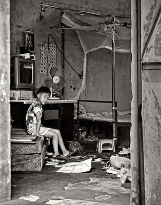 Photograph - Interior Of An Old Round Shilong Home by Endre Balogh