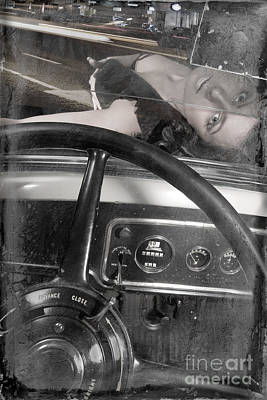 Photograph - Interior Of An Vintage Car. by Andrey  Godyaykin