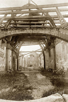 Photograph - Interior Of Carmel Mission Looking Towards The Altar. Circa 1880 by California Views Mr Pat Hathaway Archives