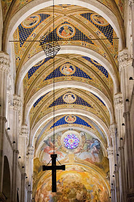 Volto Photograph - Interior Of Cattedrale Di San Martino In Lucca, Italy by Shelley Dennis