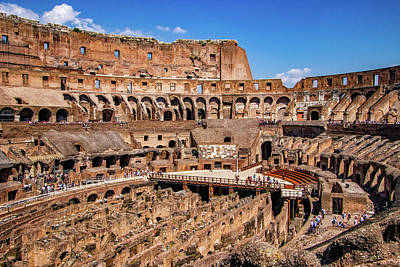 Photograph - Interior Of Roman Colosseum by Carolyn Derstine
