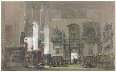 Interior Of Santi Giovanni E Paolo Art Print by David Roberts