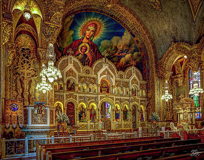 Photograph - Interior Of St. Sophia 2 by Endre Balogh
