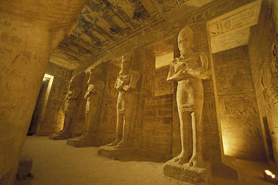 Abu Simbel Photograph - Interior Of  Statues At The Temple by Richard Nowitz