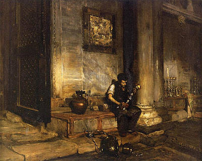 Baptistry Painting - Interior Of The Baptistry by William Merritt