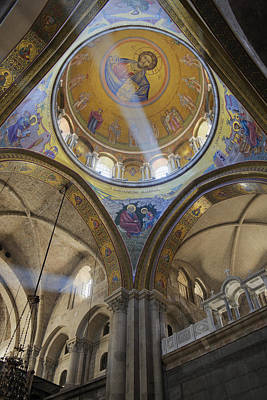 Sepulchre Photograph - Interior Of The Church Of The Holy Sepulchre by Jeremy Woodhouse