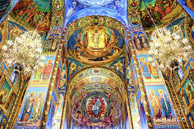 Interior Of The Church Of The Savior On Spilled Blood Art Print by Delphimages Photo Creations