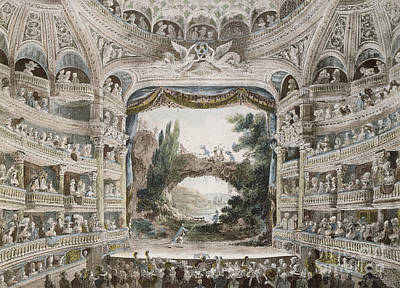 Production Drawing - Interior Of The Comedie Francaise Theatre In 1791 by French School