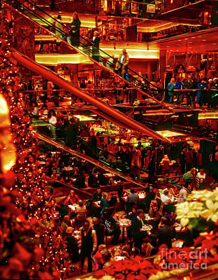 Photograph - Interior Of Trump Tower  Christmas Nyc by Tom Jelen